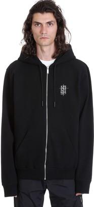 Marcelo Burlon County of Milan Hoodie Zip Sweatshirt In Black Cotton