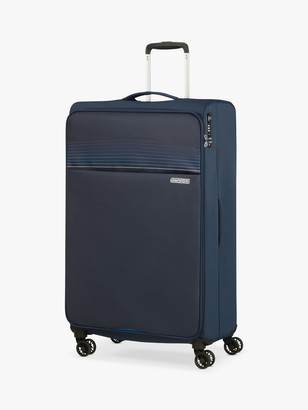 American Tourister Lite Ray 4-Wheel 81cm Large Suitcase, Navy
