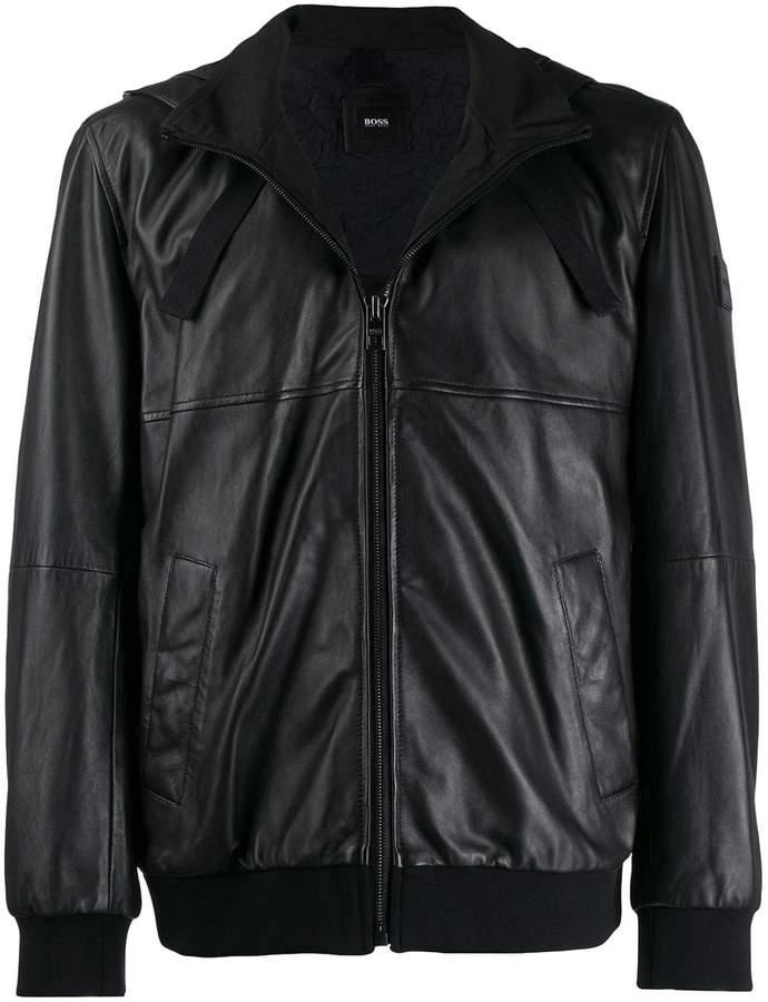 41bb03357 zipped hooded jacket