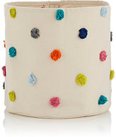 PetitPehr Pom-Pom-Embellished Medium Bin