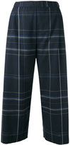 Stephan Schneider checked cropped trousers - women - Cotton - S