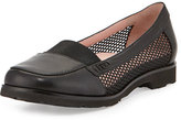 Taryn Rose Jac Mesh and Leather Loafer, Black
