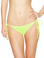 Shoshanna Neon Crochet String Bikini Bottoms