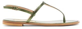 Avec Modération Avec Moderation - St. Lucia Metallic-leather Sandals - Womens - Green