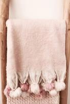 Shiraleah Pink Pompom Throw