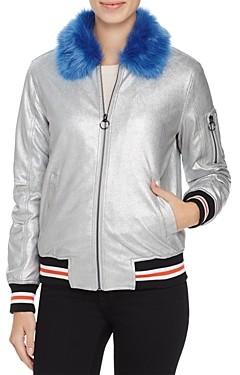Louise Paris Metallic Puffer Bomber Jacket - 100% Exclusive