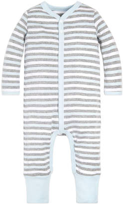 Burt's Bees Baby Boys' Rompers Sky - Sky Stripe Snap-Front Organic Cotton Playsuit - Newborn & Infant