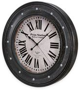 Bulova Vintage Large Wall Clock in Antique Black Finish