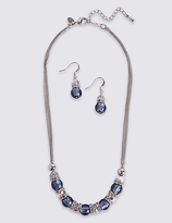M&S Collection Stacker Necklace & Earrings Set