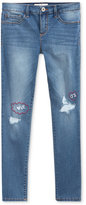 Jessica Simpson Distressed Heart Skinny Jeans, Big Girls (7-16)