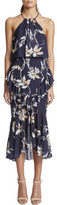Shona Joy Cross Frill Midi Dress