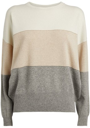Peserico Striped Wool-Blend Sweater