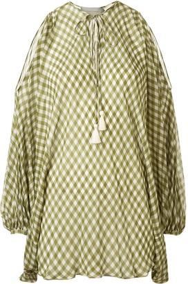Silvia Tcherassi Geva gingham print blouse