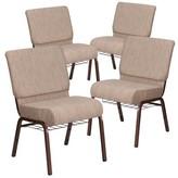 Church's Laduke Chair Symple Stuff Seat Finish: Beige, Frame Finish: Cooper Vein