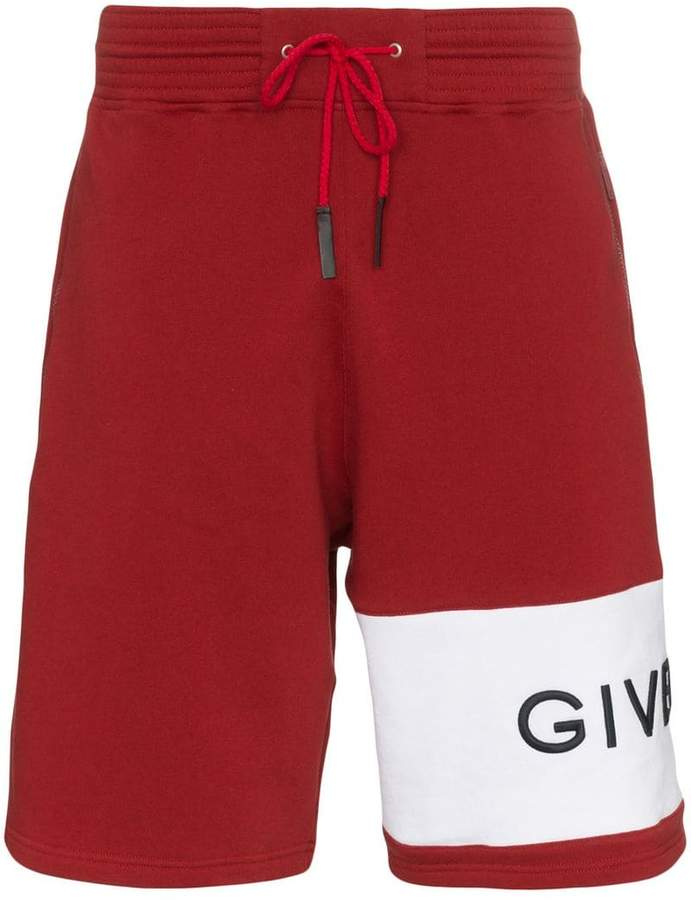 Givenchy logo band cotton track shorts