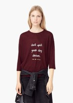 Mango Outlet Printed Message T-Shirt