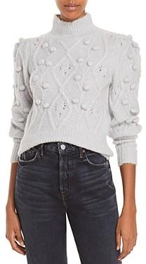 Aqua Cable Popcorn Balloon Sleeve Sweater - 100% Exclusive