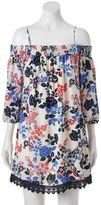 Trixxi Juniors' Floral Off-the-Shoulder Dress