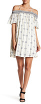 Sequin Hearts Print Cold Shoulder Dress (Juniors)