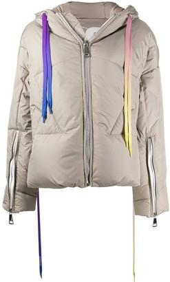 KHRISJOY Iconic hooded puffer jacket
