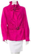 Salvatore Ferragamo Silk Belted Jacket