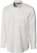 Cutter & Buck White Nailshead Woven Button-Down - Big & Tall