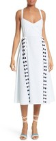 Tanya Taylor Women's Pari Embroidered Menswear Stripe Dress