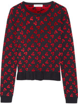 Altuzarra Clifton Ruffle-trimmed Jacquard-knit Sweater - Black