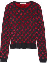 Altuzarra Clifton Ruffle-trimmed Jacquard-knit Sweater - medium