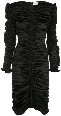 Magda Butrym Pula Ruched Ruffle Dress