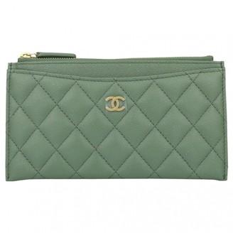 Chanel Timeless/Classique Khaki Leather Purses, wallets & cases