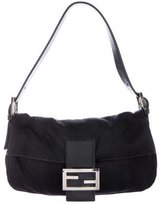 Fendi Leather-Trimmed Baguette