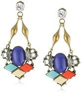 Anton Heunis Inca Goddess Crystal Cluster Drop Earrings