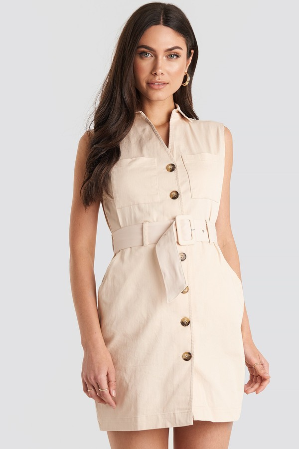 NA-KD Belted Cargo Sleeveless Dress