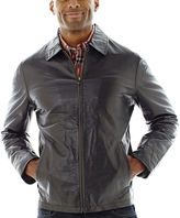 JCPenney Excelled Leather Excelled Nappa Leather Open-Bottom Jacket