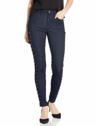 GUESS Women's LACE UP 1981 Skinny Jean
