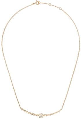 As 29 AS29 18kt yellow gold white diamond Mye necklace