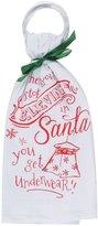 Stop Believing in Santa Krinkle Flour Sack 26 Inch Kitchen Dish Towel Kay Dee