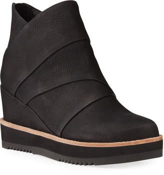 Eileen Fisher Clapton Wrapped Wedge Ankle Boots