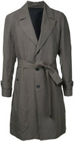 Cerruti belted trench coat - men - Linen/Flax/Lyocell - 46