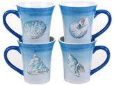 Certified International Sea Finds 4-pc. Coffee Mug Set