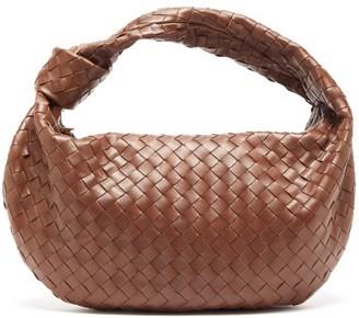 Bottega Veneta Jodie Small Intrecciato-leather Shoulder Bag - Womens - Dark Brown