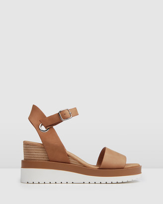 Jo Mercer - Women's Brown Sandals - Kenzie Wedge Sandals - Size One Size, 36 at The Iconic