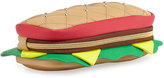 Betsey Johnson Hoagie Quilted Faux-Leather Pencil Case, Multi