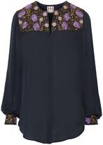 Haute Hippie Embroidered silk blouse