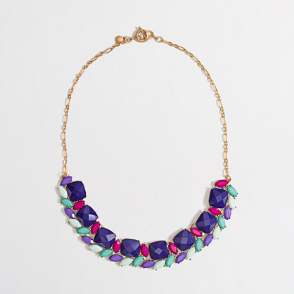 J.Crew Factory Factory sweeping stones necklace