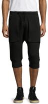 Helmut Lang Solid Cropped Drop Crotch Sweatpants