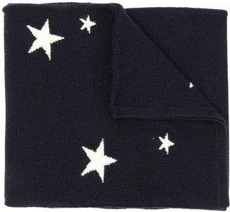 Chinti and Parker Stars Knitted Scarf