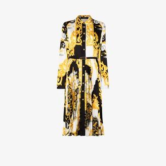 Versace Barocco Acanthus print silk shirt dress