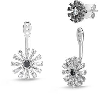 Memoire 18K 1.14 Ct. Tw. Diamond Margarita Stud & Ear Jacket Set